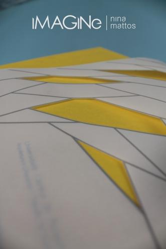 representação da corberta + cortes em papel vegetal.