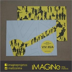 estampa feita a partir da tipografia Human Silhouettes da Intelecta Design