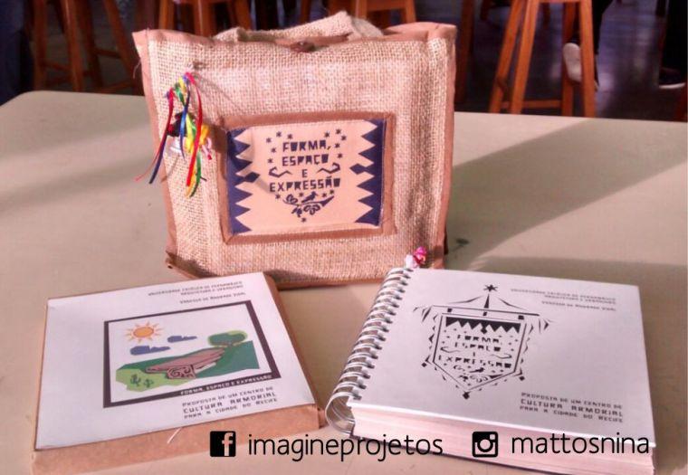 sacola + caixa kraft e livro